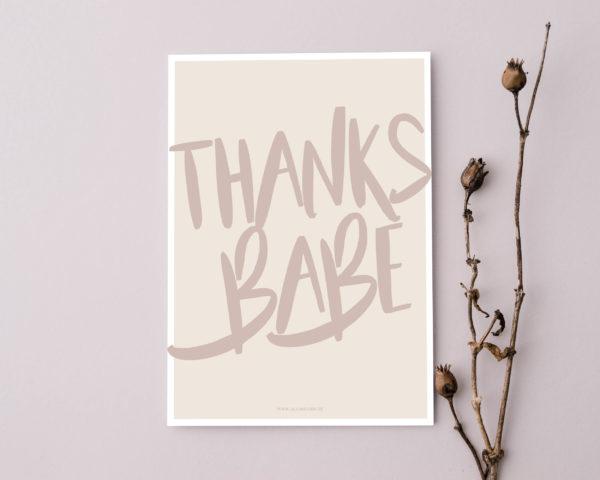Postkarte_thanksbabe